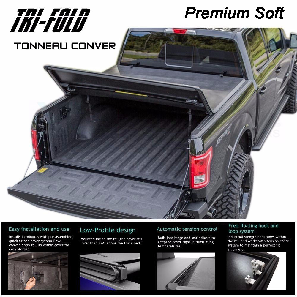 Fit 2004 2006 Chevy Silverado 5 8ft Bed Tri Fold Soft Tonneau Cover Assemble Ppid Tabanankab Go Id