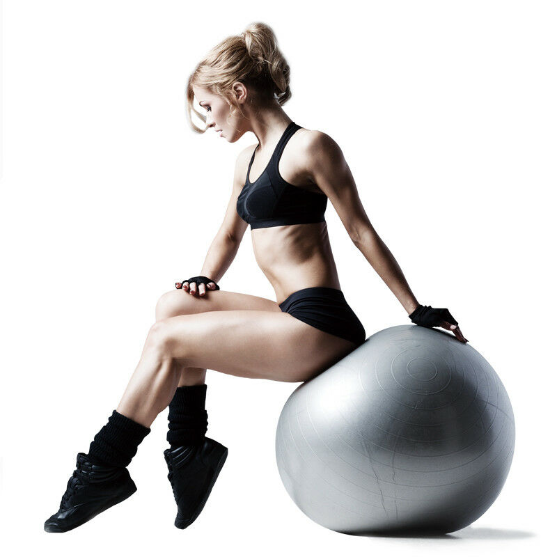 55-65-75cm-New-Exercise-Yoga-Ball-Fitness-Balance-Over-Stability-Ball-Bender-Gym thumbnail 20