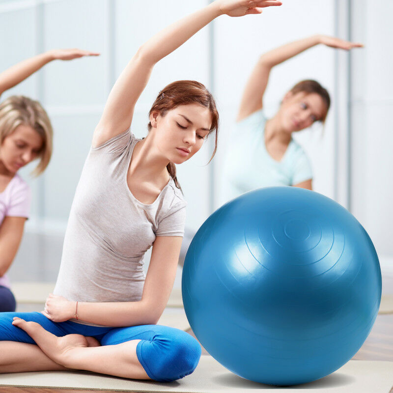 55-65-75cm-New-Exercise-Yoga-Ball-Fitness-Balance-Over-Stability-Ball-Bender-Gym thumbnail 14