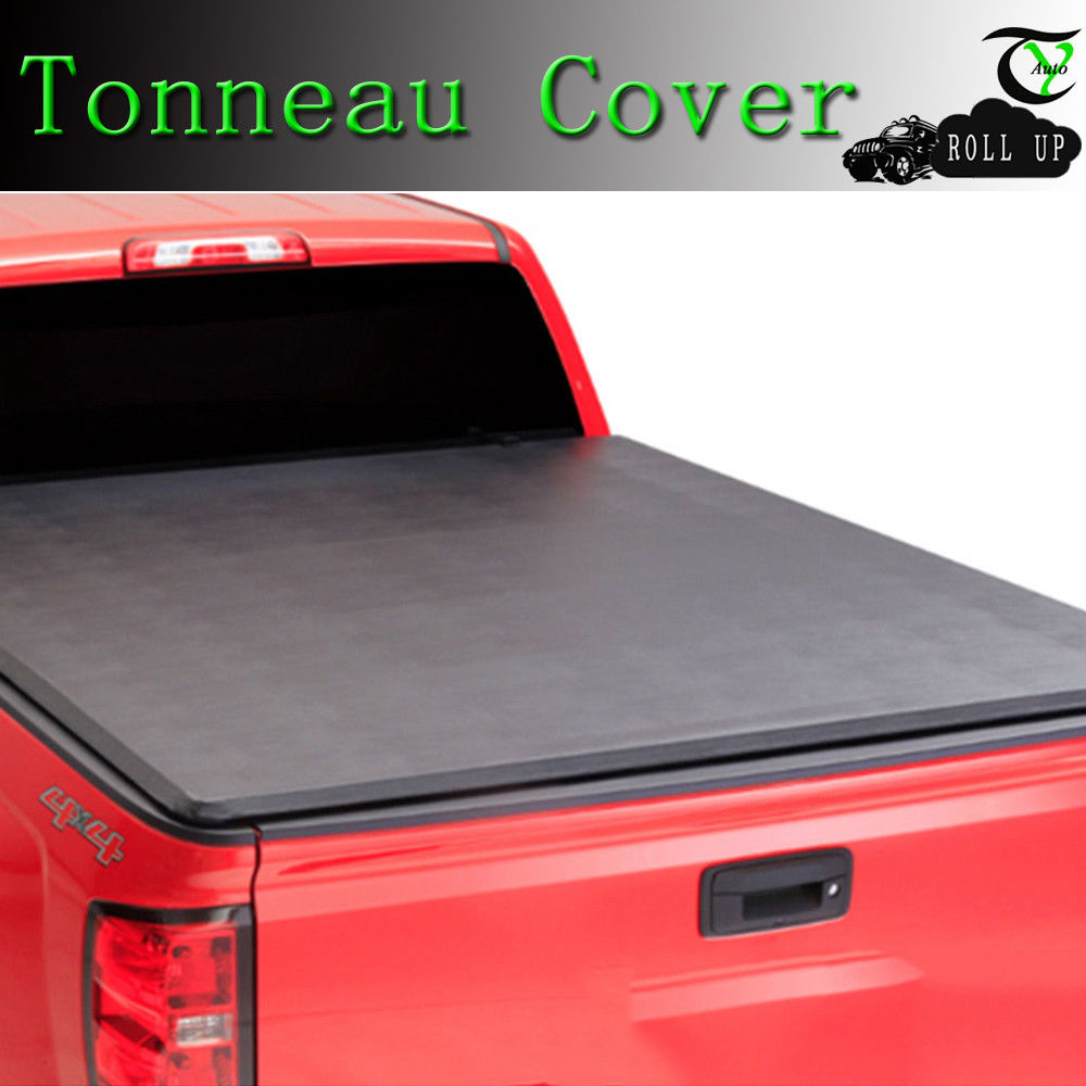 Fit 2015-2017 Ford F150 6.5ft Bed Lock Solf Roll up Black Tonneau Tonno Cover