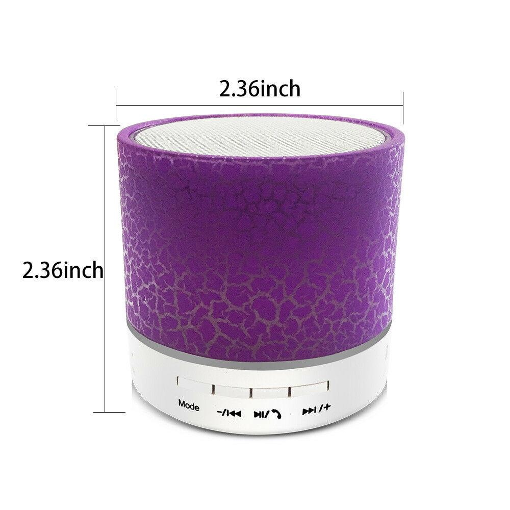 Mini Portable Bluetooth Speaker Super Bass Perfect Hifi Stereo w// Luminous Light