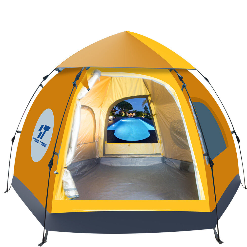 Waterproof Outdoor Tent 5 Person 4 Season Camping Folding ...