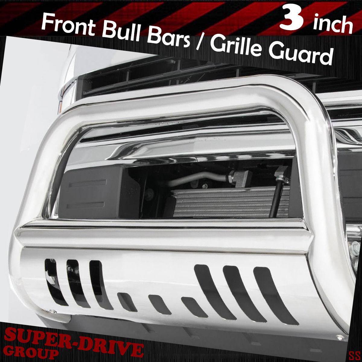 """For 2007-2018 Chevy Silverado//GMC Sierra 1500 3/"""" Bull Bar Grille Guard Chrome"""