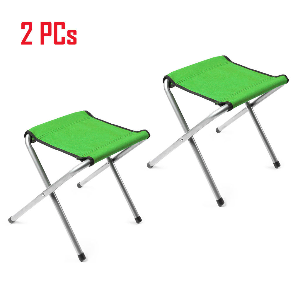 Portable Folding Chairs For Outdoors.Details About 2 Pcs Portable Folding Stool Camping Chair Outdoor Hiking Fishing Beach Seat
