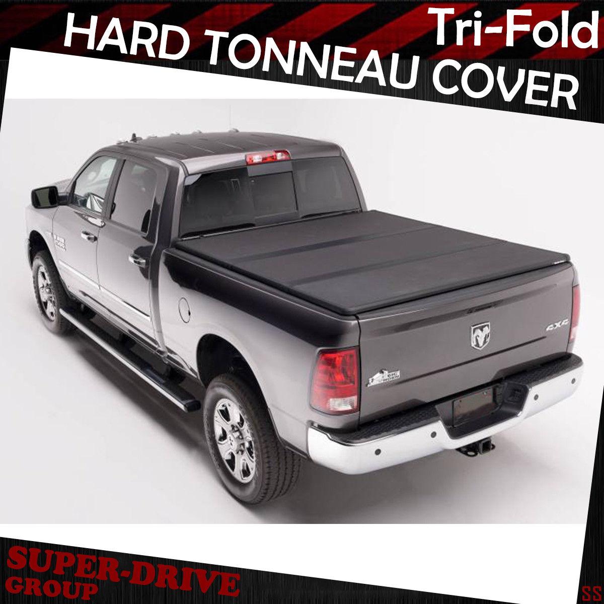 Tri Fold Hard Tonneau Covers For 2002 2018 Dodge Ram 1500 8 Ft 96 Bed Cargo Box Ebay