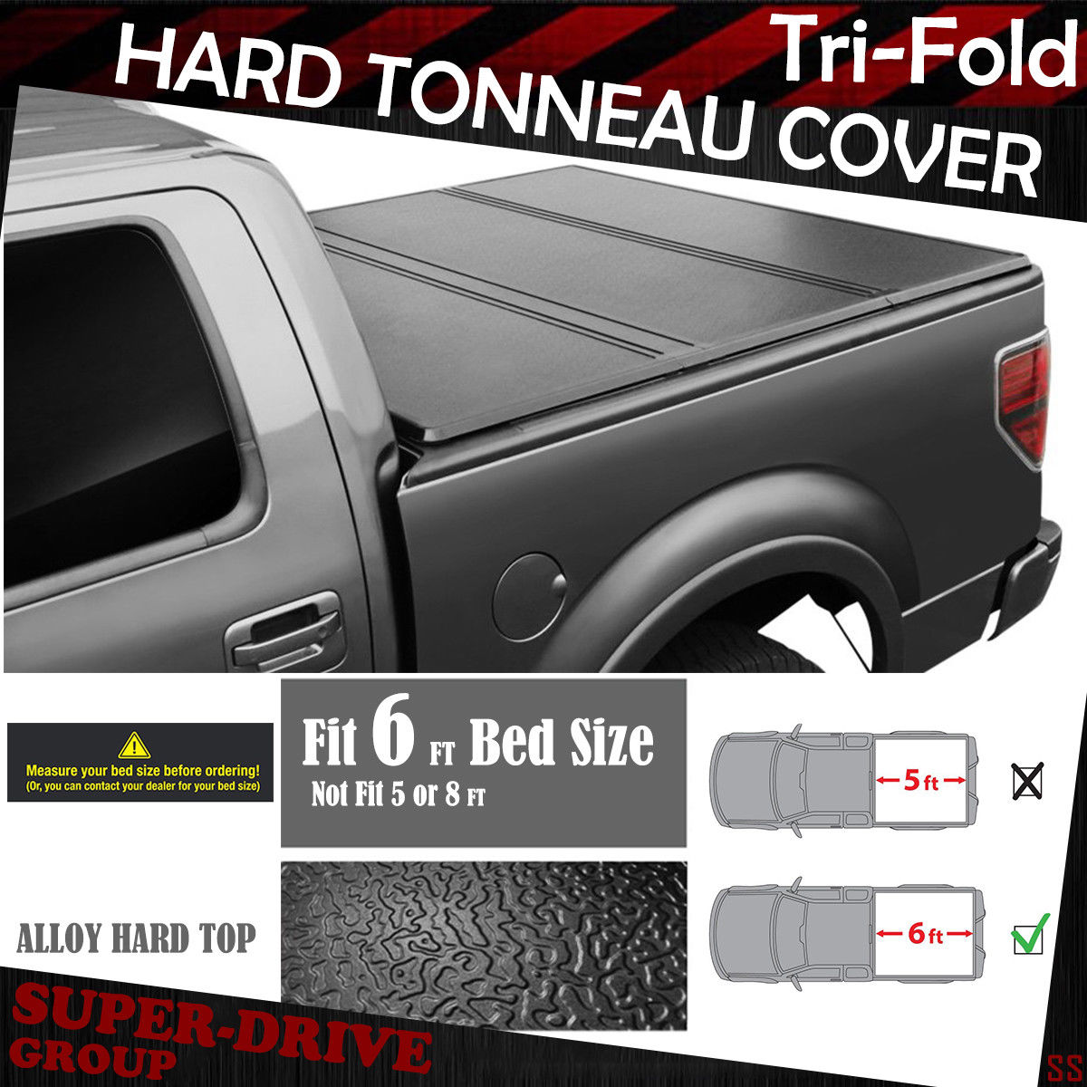 Hard Solid Tri Fold Tonneau Covers For 2005 2019 Nissan Frontier 6 Ft 72 Bed Ebay