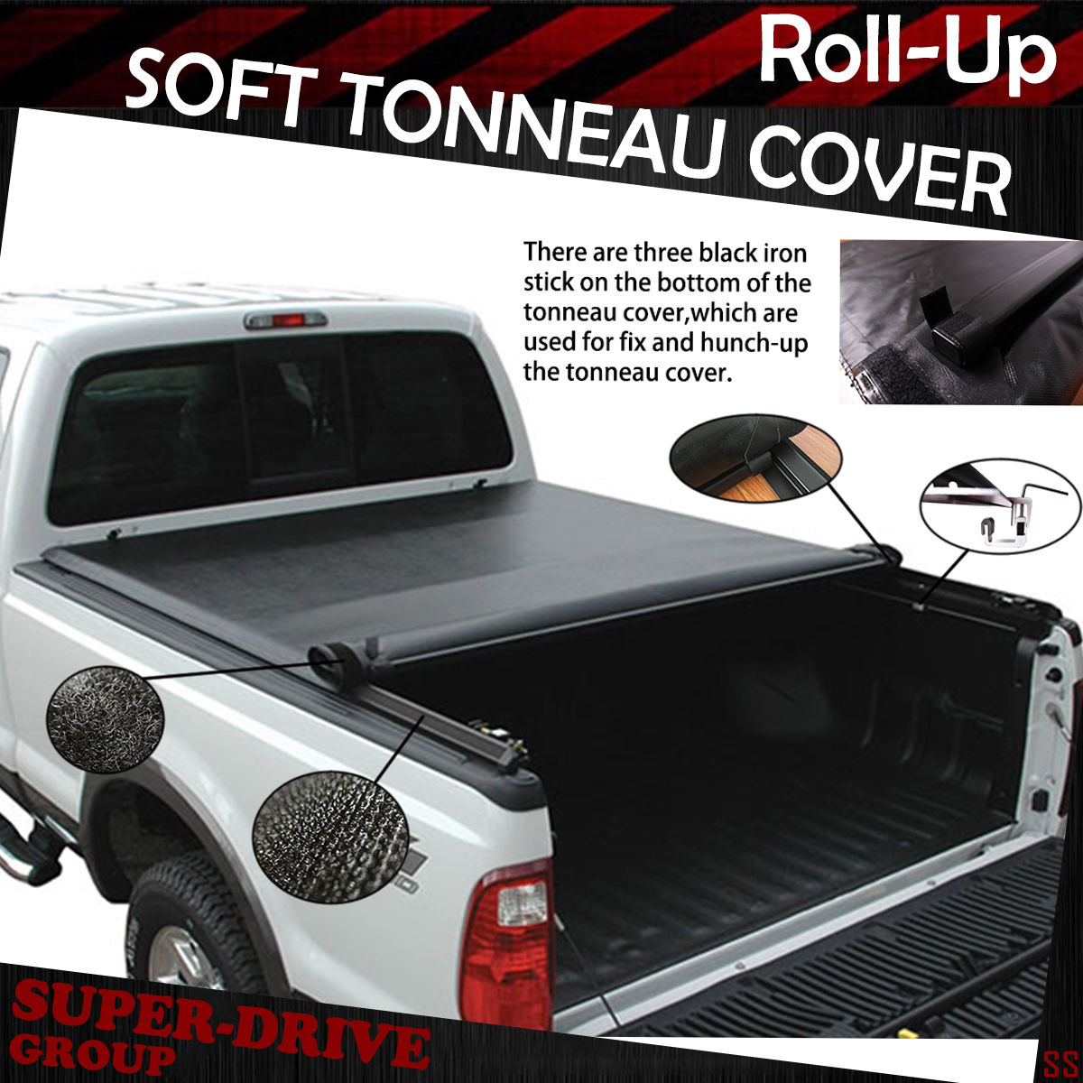 Fits 2003-2018 DODGE RAM 2500 3500 Lock Roll Up Soft Tonneau Cover 8ft Long Bed