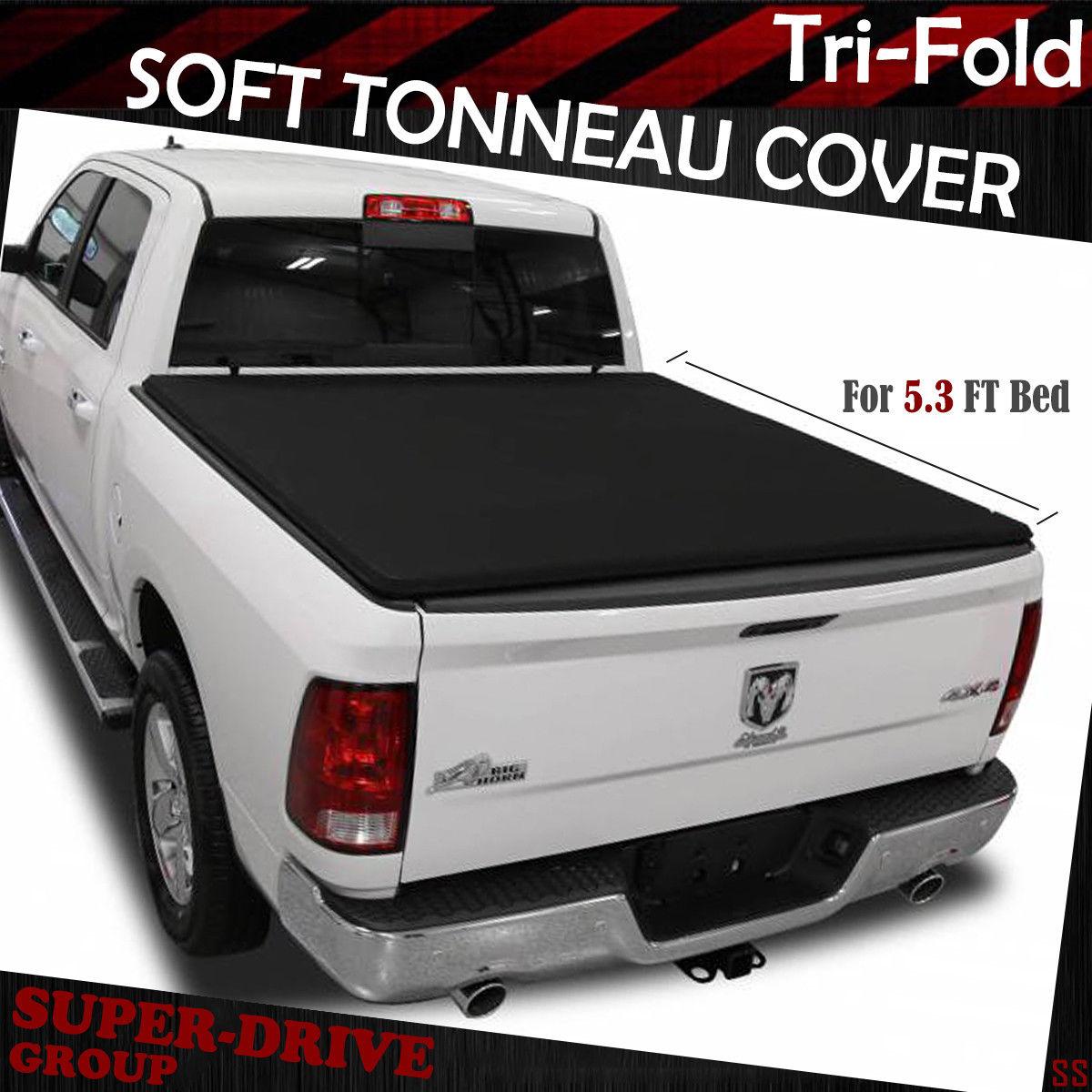 Soft Tri-Fold Lock Tonneau Cover FOR 2005-2011 Dodge Dakota 5.3 ft Short Bed