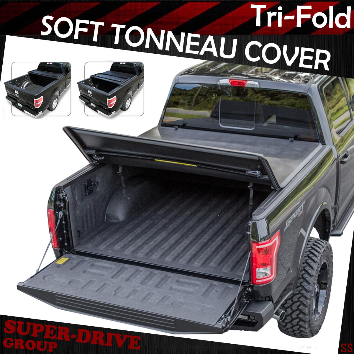 Premium Tri Fold Tonneau Cover For 2015 2020 Ford F 150 8 Ft 96 Long Bed Cover Ebay