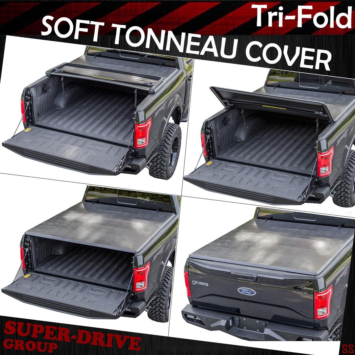 Premium Tri-Fold Tonneau Cover For 2015-2018 FORD F-150 8\' FT 96 ...