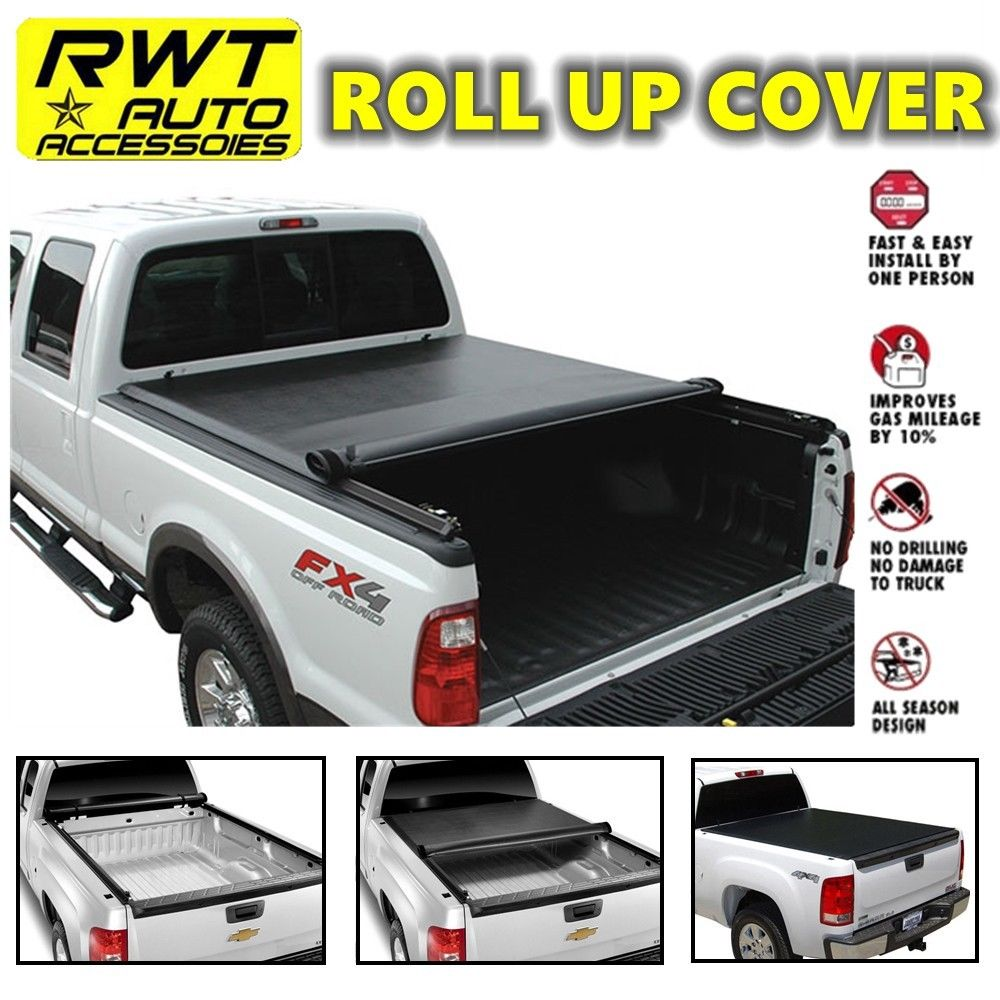 Lock Roll Up Soft Tonneau Covers Fit 2015-2018 FORD F150 6.5ft Bed ...