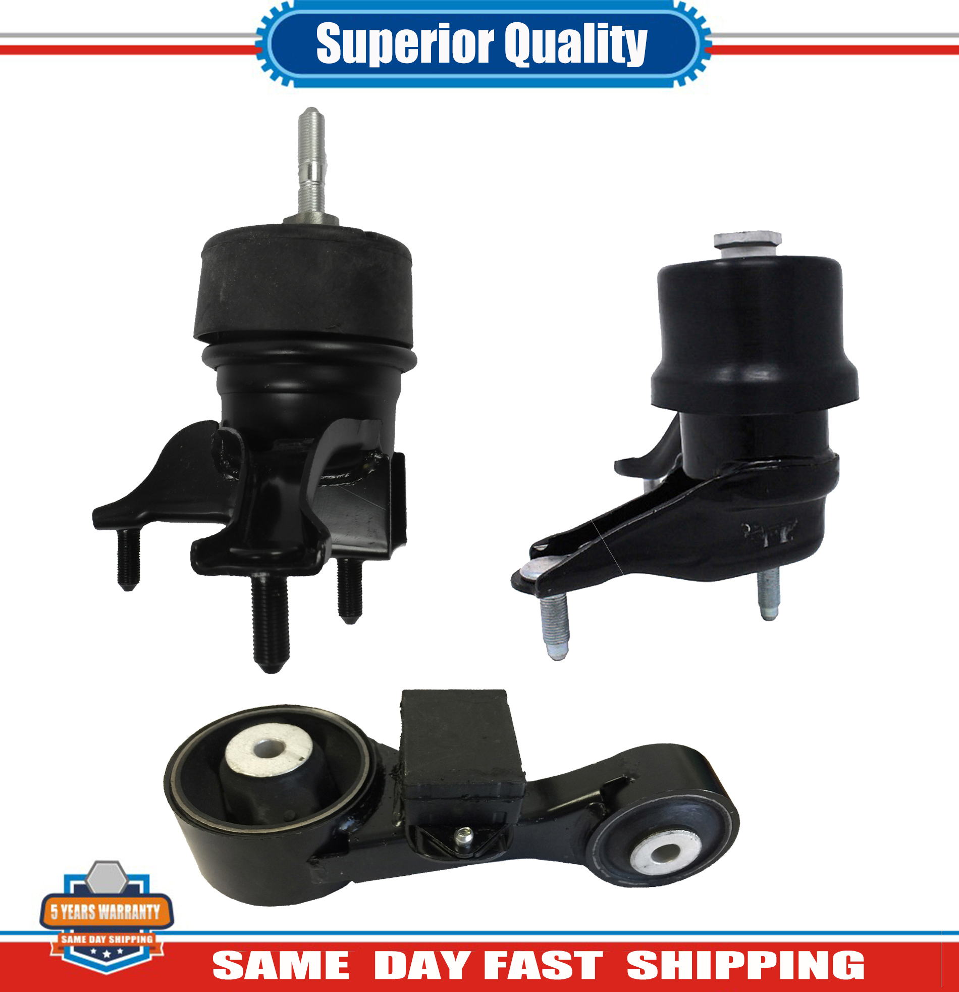 3PCS Engine Motor /& Trans Mount W//Auto For 2013-2017 Toyota Avalon Camry 2.5L