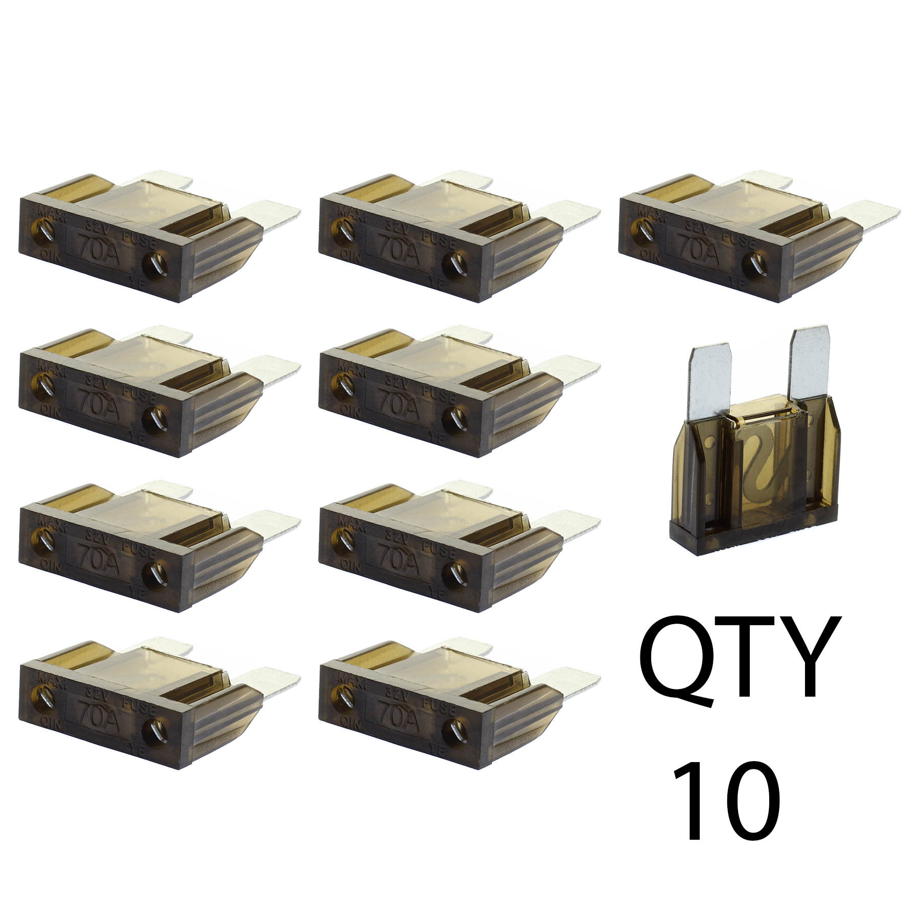 10 70 Amp Maxi Fuse By Voodoo Car Audio For Holder Qty Box