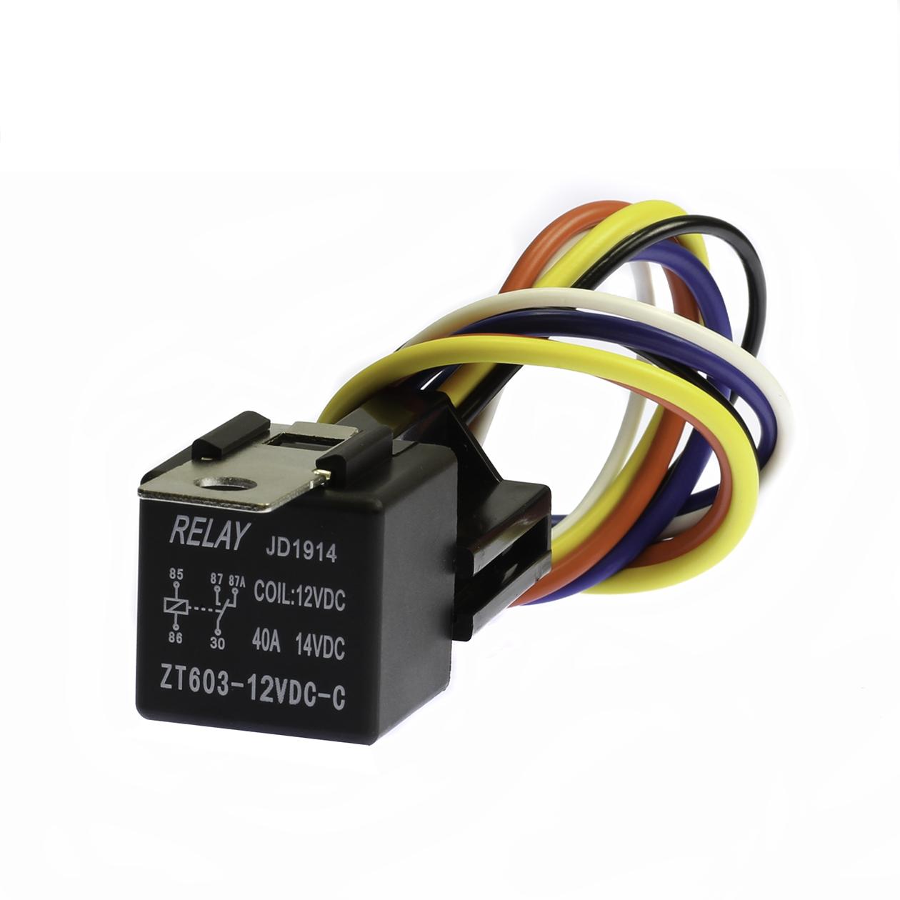 25 Pair  40 Amp 12v Bosch Style Relay Harness Spdt