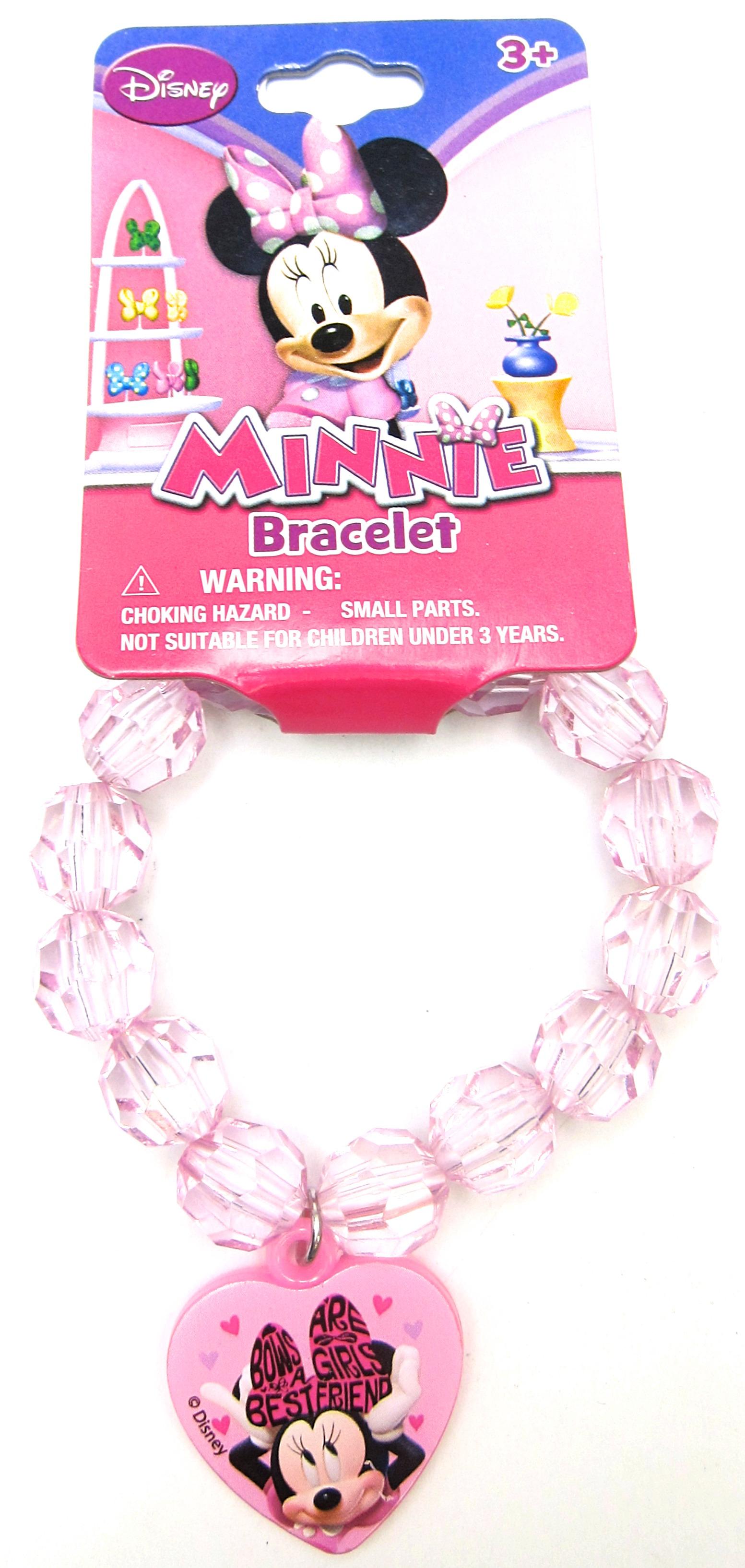 Stretchy Bracelet Toddler Minnie Mouse Handmade Beaded Bracelet Girls