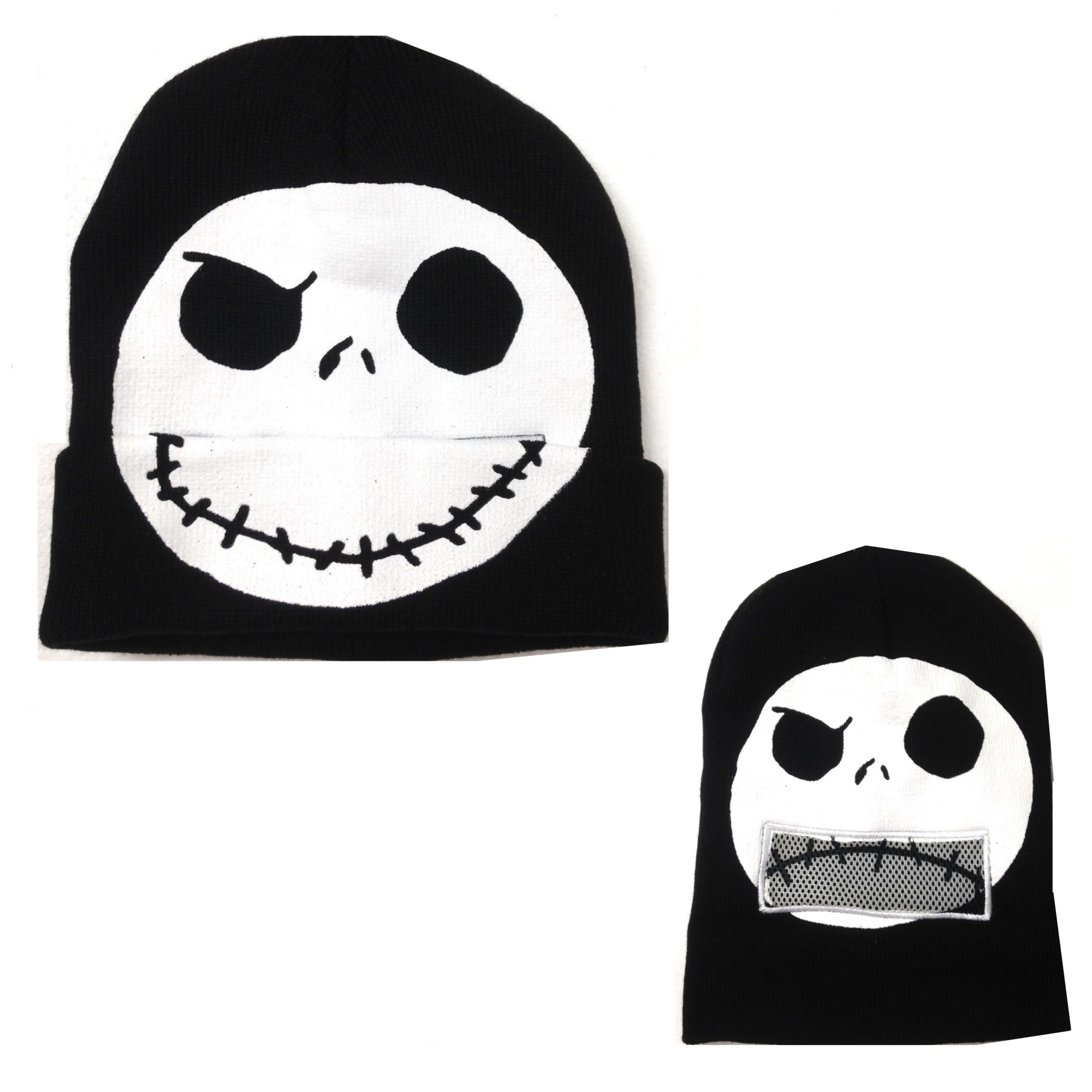 339f40c6bff Disney Nightmare Before Christmas Jack Skellington Flip-Down Beanie ...