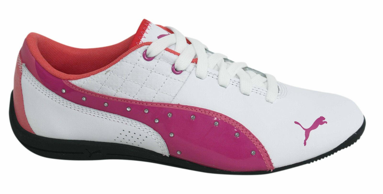 Ortodoxo Papúa Nueva Guinea fe  Puma Drift Cat 6 Junior Kids Lace Up White Pink Trainers 305185 01 D94 |  eBay