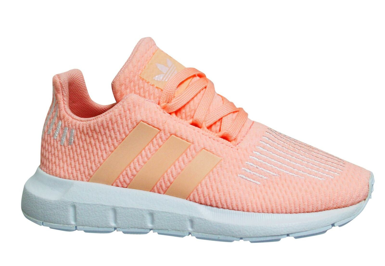 Adidas Originals Swift Run Clear Orange Low Lace Up Kids Trainers ...