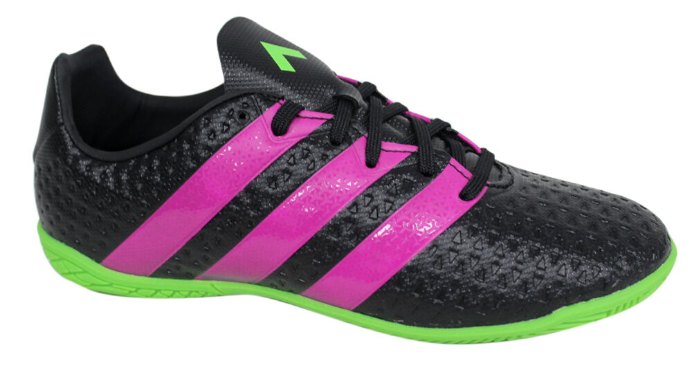 Adidas Ace 16.4 Junior Boys Lace Up Black Football Trainers Boots ...