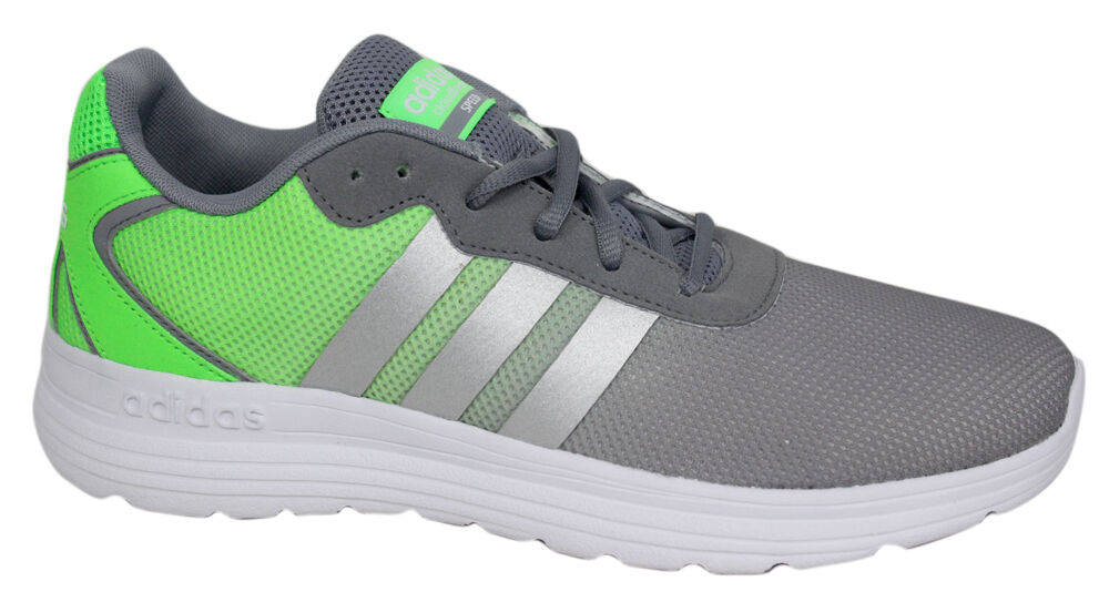 Adidas Neo Cloudfoam Speed Mens Running Trainers Shoes Grey Green ...