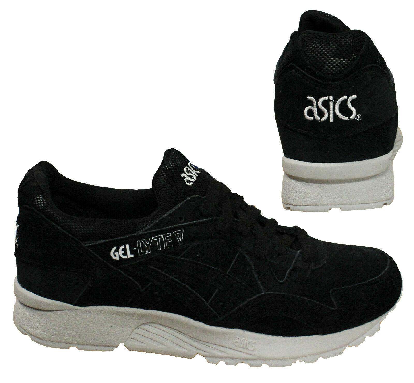 Teseo Cerdo cooperar  Asics Gel-Lyte V Black Lace Up Mens Low Top Suede Sport Trainers H732L 9090  B34D | eBay