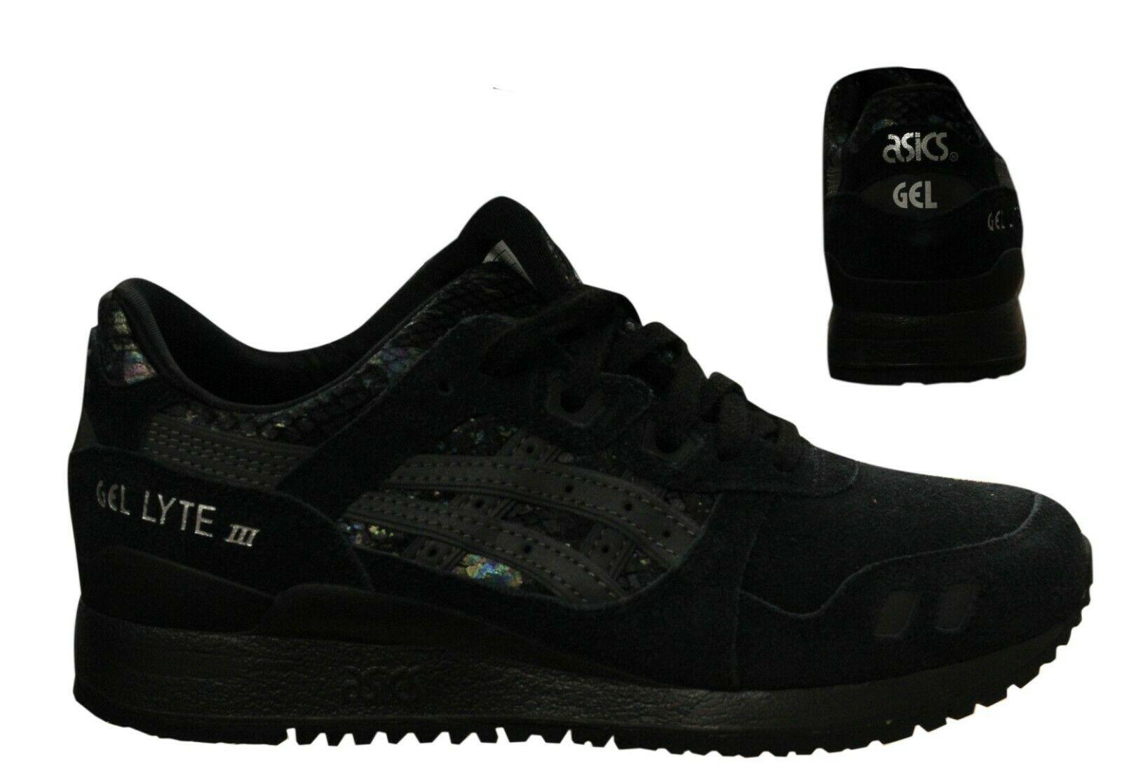 Asics Gel-Lyte III Lace Up Womens Trainers Running Black HN6K5 ...