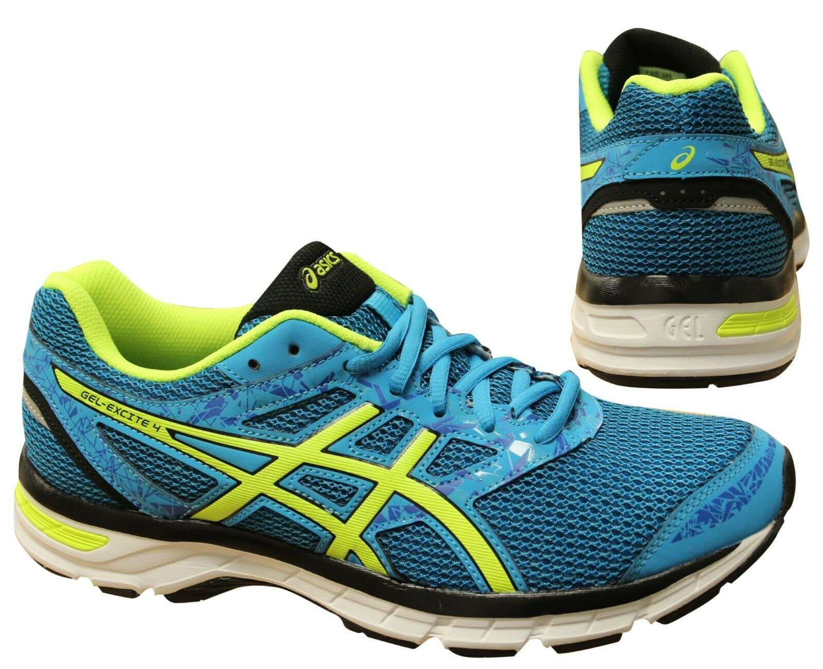 Reunión Decir barbería  Asics Gel-Excite 4 Blue Yellow Lace Up Mens Running Trainers T6E3N 4107  B92A | eBay