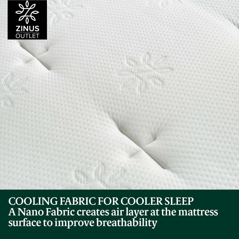 thumbnail 10 - Zinus Mattress Queen Double King Single Bed Memory Foam Pocket Spring Hybrid