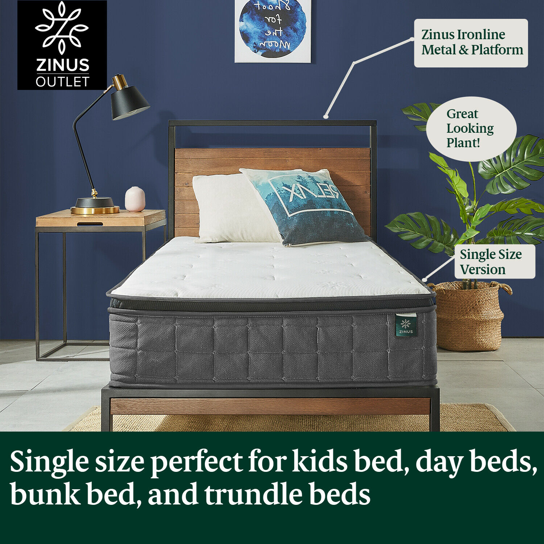 thumbnail 8 - Zinus Mattress Queen Double King Single Bed Memory Foam Pocket Spring Hybrid