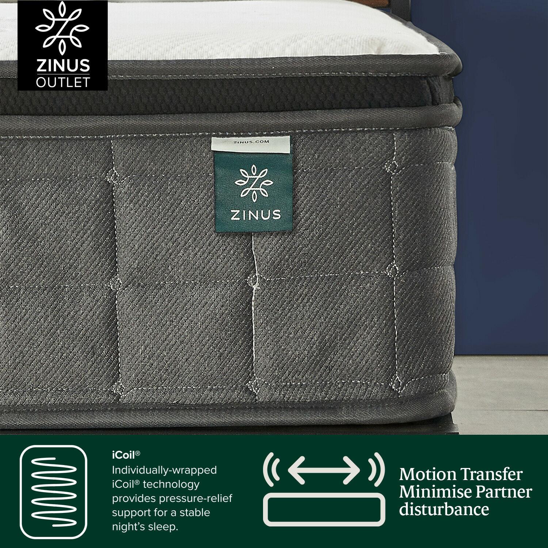thumbnail 9 - Zinus Mattress Queen Double King Single Bed Memory Foam Pocket Spring Hybrid