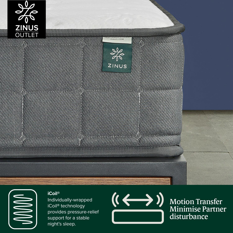 thumbnail 141 - Zinus Mattress Queen Double King Single Bed Memory Foam Pocket Spring Hybrid
