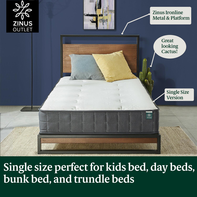 thumbnail 140 - Zinus Mattress Queen Double King Single Bed Memory Foam Pocket Spring Hybrid
