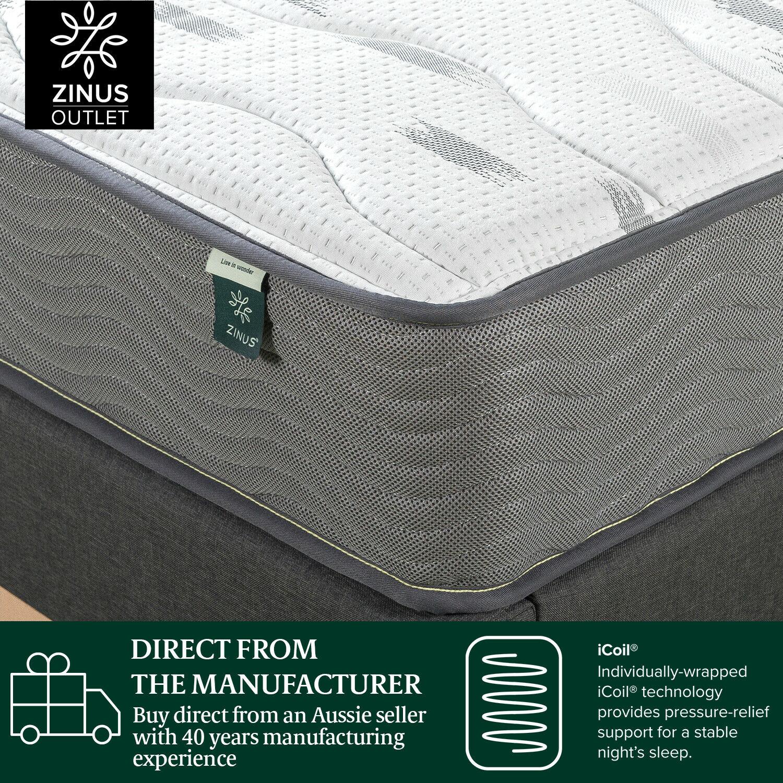 thumbnail 151 - Zinus Mattress Queen Double King Single Bed Memory Foam Pocket Spring Hybrid