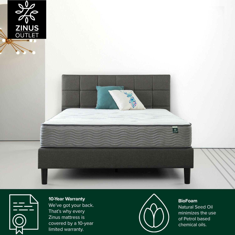 thumbnail 148 - Zinus Mattress Queen Double King Single Bed Memory Foam Pocket Spring Hybrid