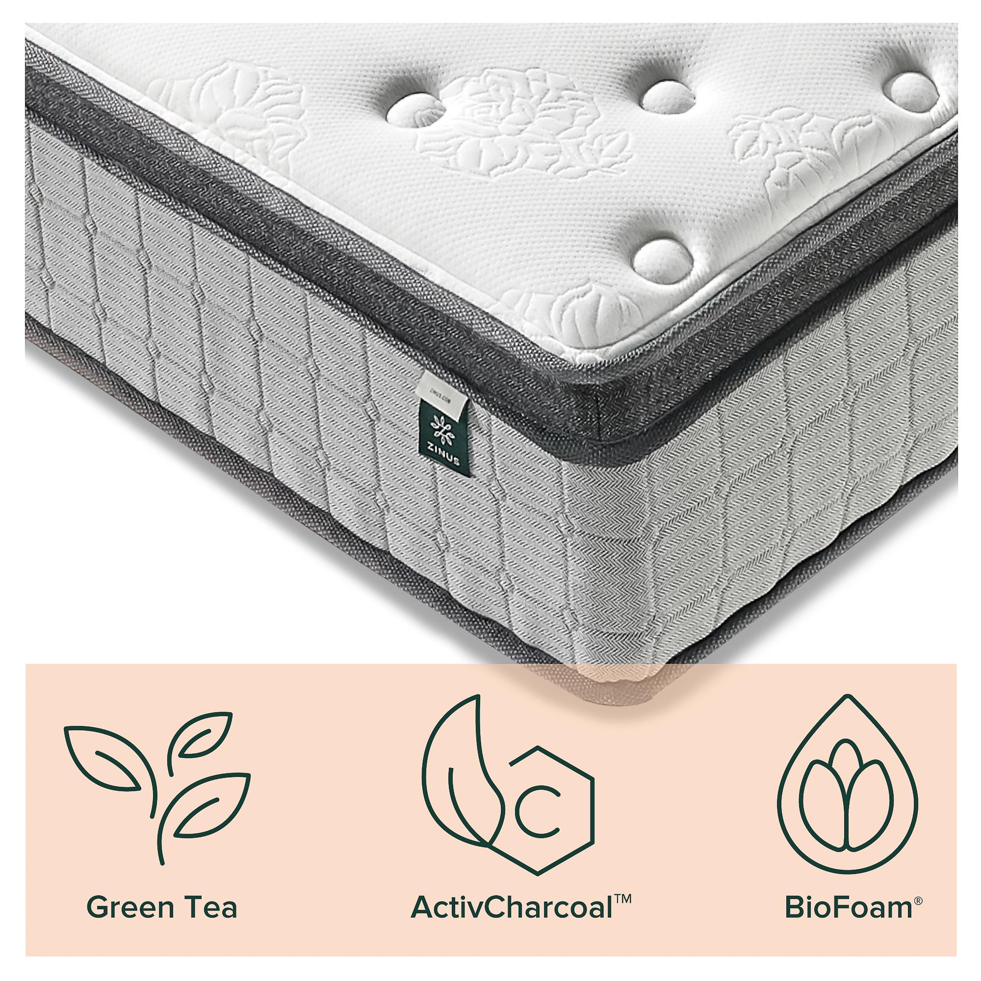 thumbnail 48 - Zinus Mattress Queen Double King Single Bed Memory Foam Pocket Spring Hybrid