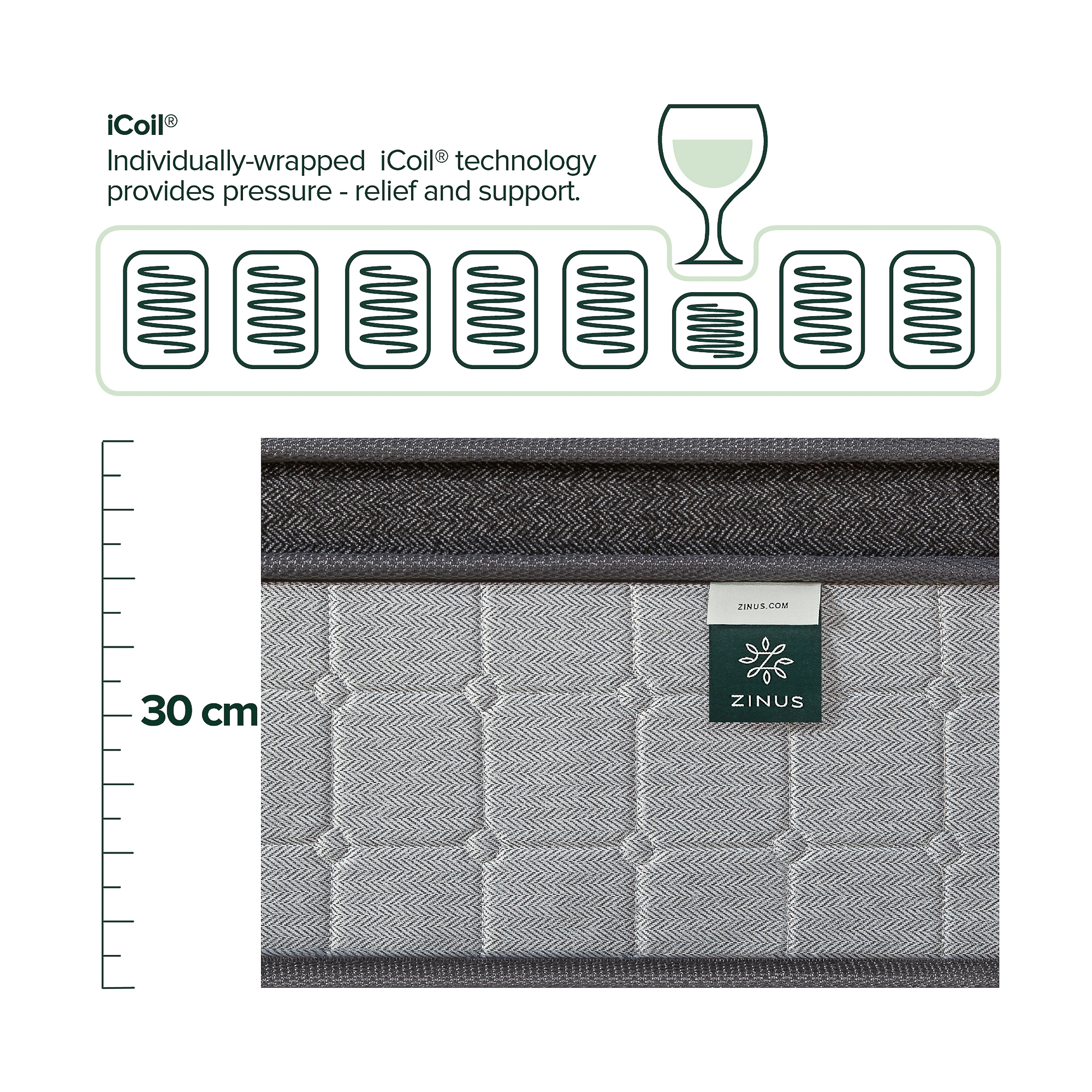 thumbnail 46 - Zinus Mattress Queen Double King Single Bed Memory Foam Pocket Spring Hybrid
