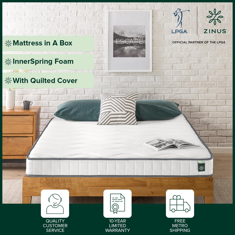 thumbnail 121 - Zinus Mattress Queen Double King Single Bed Memory Foam Pocket Spring Hybrid