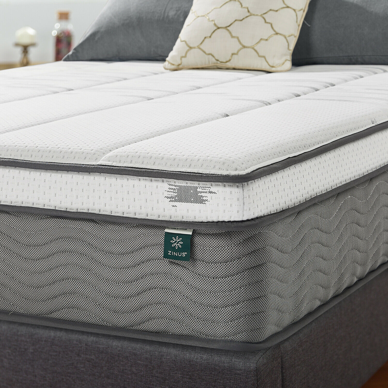 thumbnail 31 - Zinus Mattress Queen Double King Single Bed Memory Foam Pocket Spring Hybrid