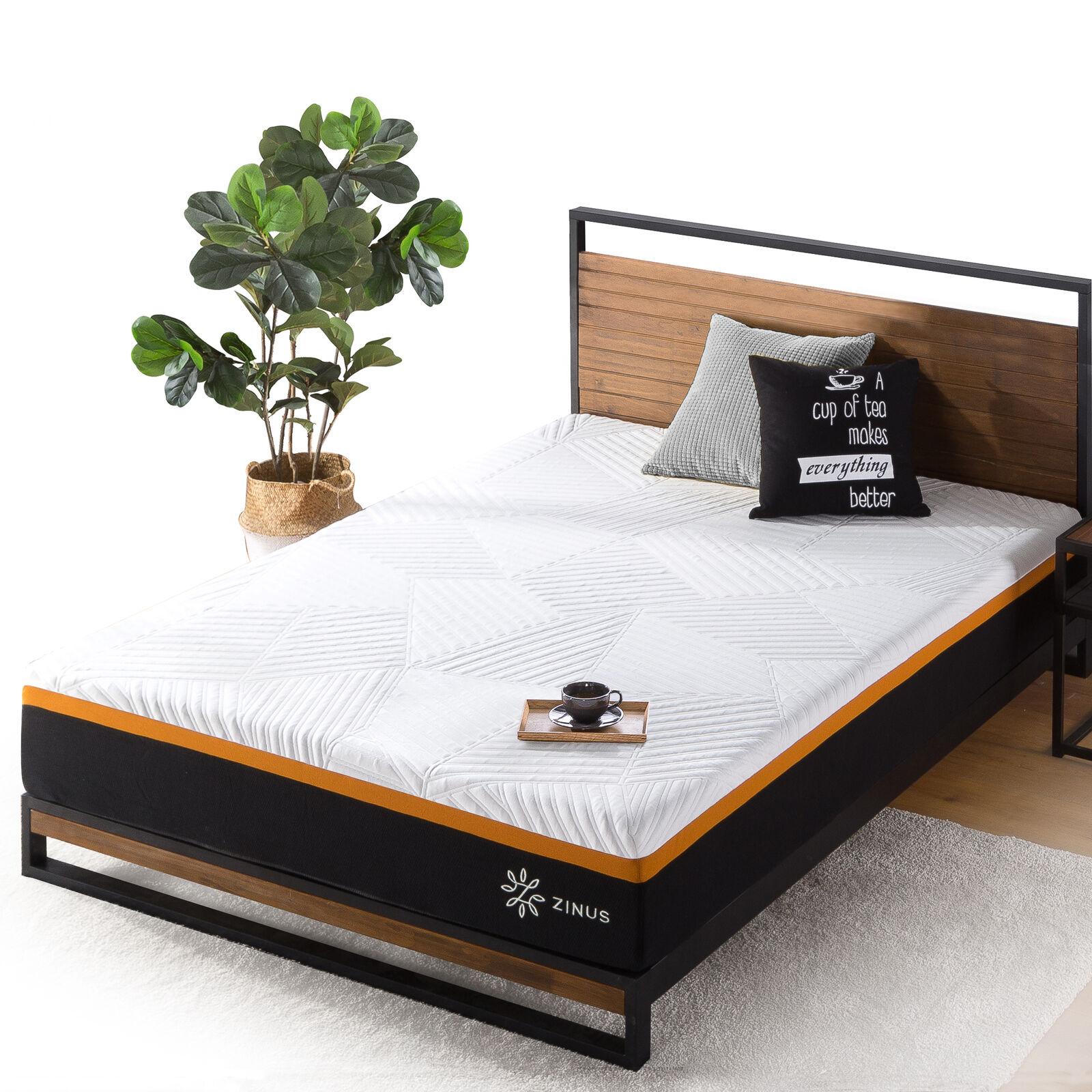 thumbnail 100 - Zinus Mattress Queen Double King Single Bed Memory Foam Pocket Spring Hybrid