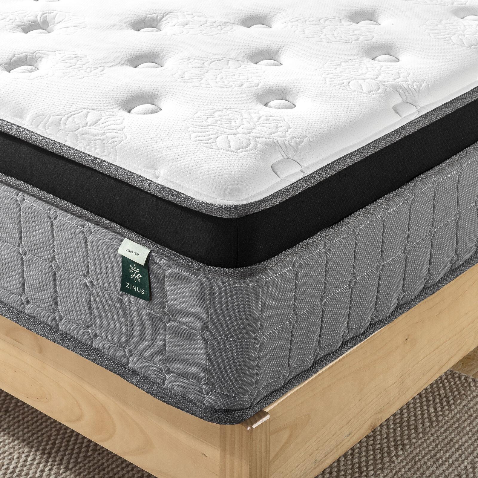 thumbnail 59 - Zinus Mattress Queen Double King Single Bed Memory Foam Pocket Spring Hybrid