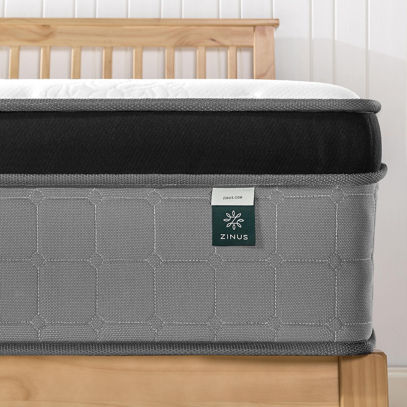 thumbnail 57 - Zinus Mattress Queen Double King Single Bed Memory Foam Pocket Spring Hybrid