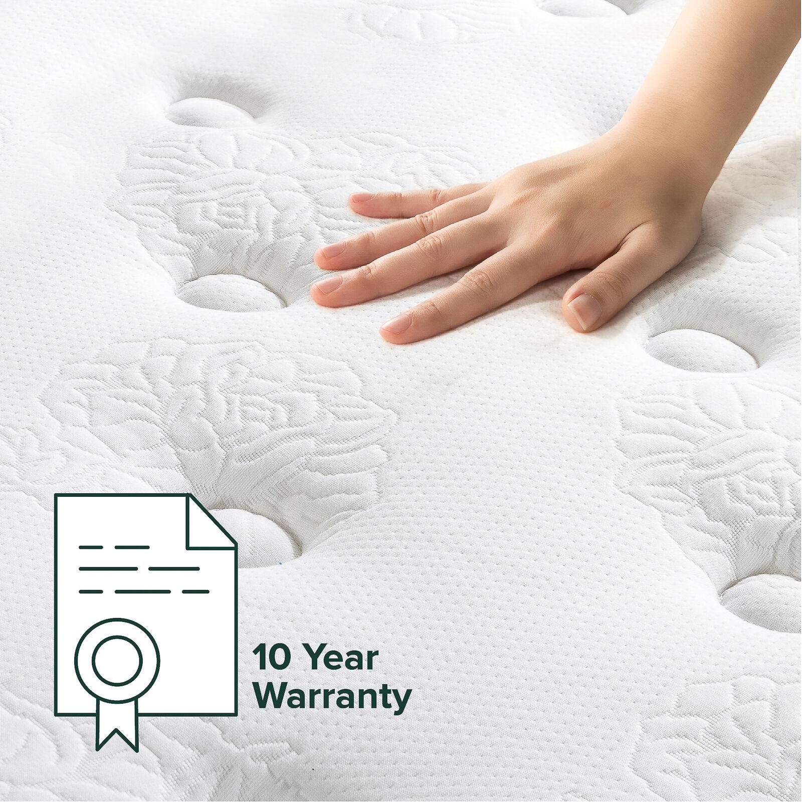 thumbnail 61 - Zinus Mattress Queen Double King Single Bed Memory Foam Pocket Spring Hybrid
