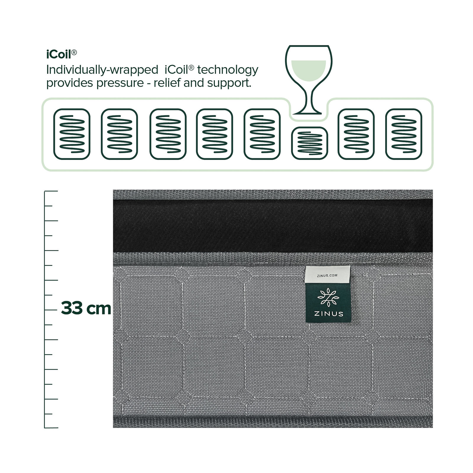 thumbnail 58 - Zinus Mattress Queen Double King Single Bed Memory Foam Pocket Spring Hybrid