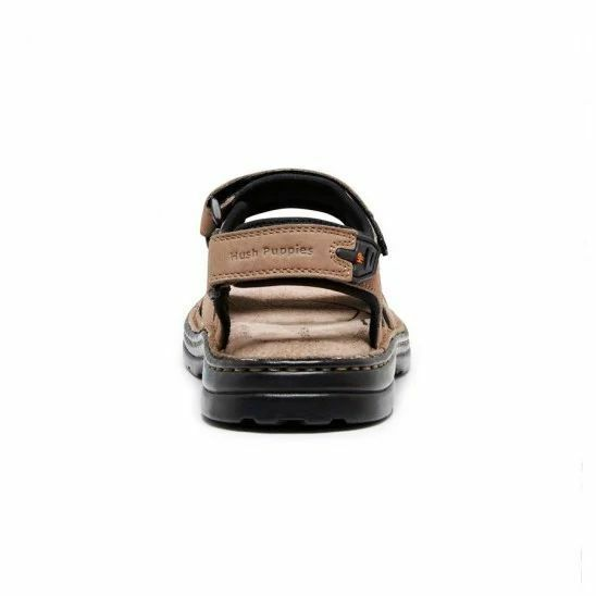 MENS-HUSH-PUPPIES-SIMMER-BROWN-GREYSTONE-GREY-SANDALS-LEATHER-SUMMER-SHOES thumbnail 13