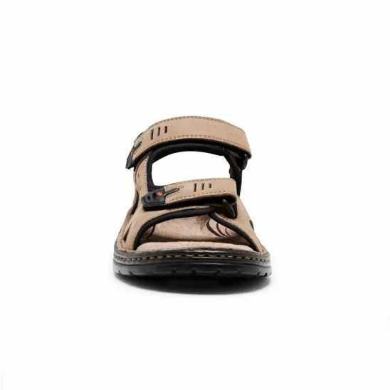 MENS-HUSH-PUPPIES-SIMMER-BROWN-GREYSTONE-GREY-SANDALS-LEATHER-SUMMER-SHOES thumbnail 14
