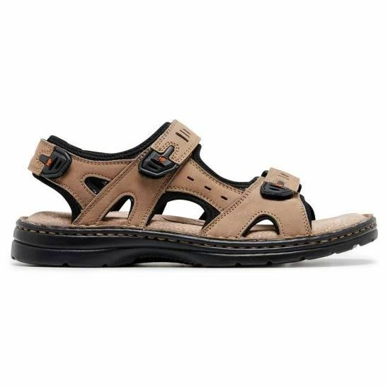 MENS-HUSH-PUPPIES-SIMMER-BROWN-GREYSTONE-GREY-SANDALS-LEATHER-SUMMER-SHOES thumbnail 12