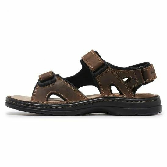 MENS-HUSH-PUPPIES-SIMMER-BROWN-GREYSTONE-GREY-SANDALS-LEATHER-SUMMER-SHOES thumbnail 10