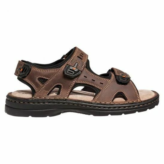 MENS-HUSH-PUPPIES-SIMMER-BROWN-GREYSTONE-GREY-SANDALS-LEATHER-SUMMER-SHOES thumbnail 8