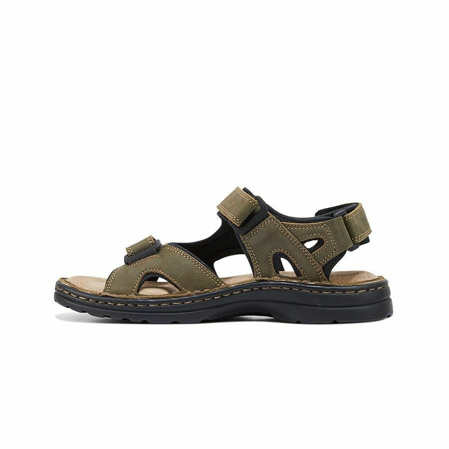 MENS-HUSH-PUPPIES-SIMMER-BROWN-GREYSTONE-GREY-SANDALS-LEATHER-SUMMER-SHOES thumbnail 16