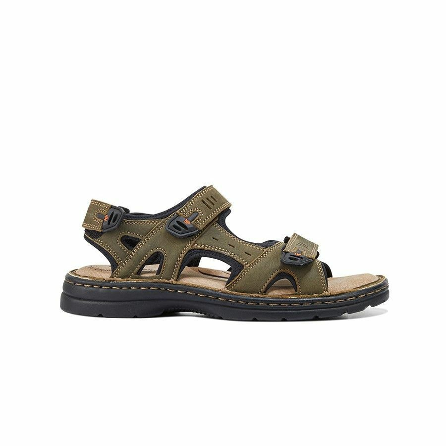 MENS-HUSH-PUPPIES-SIMMER-BROWN-GREYSTONE-GREY-SANDALS-LEATHER-SUMMER-SHOES thumbnail 18